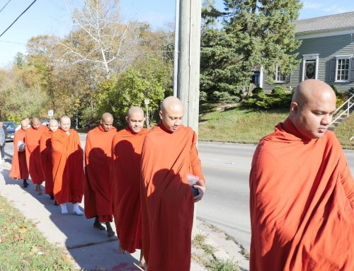 Monks Alms Round( October 2019)